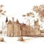Aquarelle du Château des Lutz
